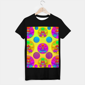 Thumbnail image of Power flowers in festive flower power festival pop art T-shirt regular, Live Heroes