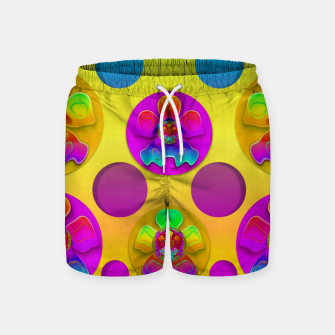 Thumbnail image of Power flowers in festive flower power festival pop art Swim Shorts, Live Heroes