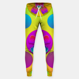 Thumbnail image of Power flowers in festive flower power festival pop art Sweatpants, Live Heroes