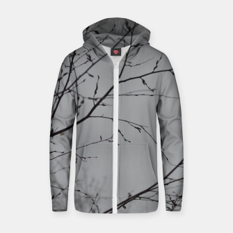 Thumbnail image of Branches impressions Zip up hoodie, Live Heroes