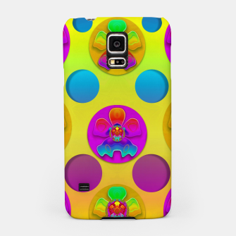 Thumbnail image of Power flowers in festive flower power festival pop art Samsung Case, Live Heroes