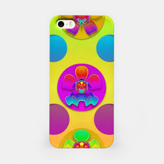 Thumbnail image of Power flowers in festive flower power festival pop art iPhone Case, Live Heroes
