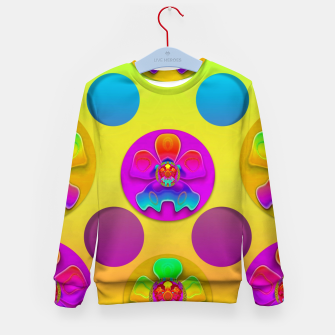 Thumbnail image of Power flowers in festive flower power festival pop art Kid's sweater, Live Heroes
