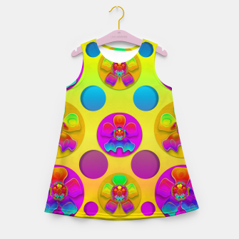 Thumbnail image of Power flowers in festive flower power festival pop art Girl's summer dress, Live Heroes