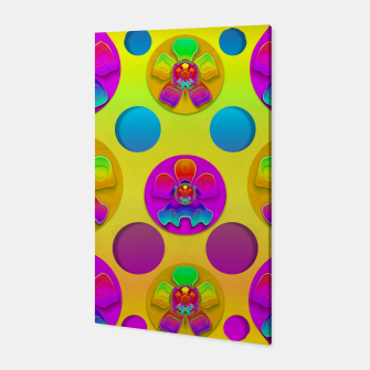 Thumbnail image of Power flowers in festive flower power festival pop art Canvas, Live Heroes