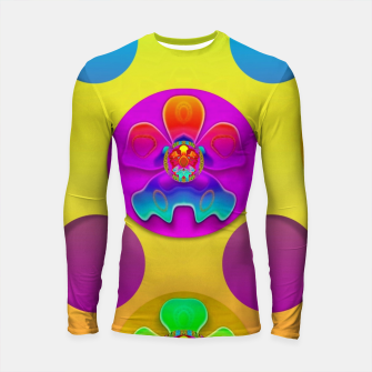 Thumbnail image of Power flowers in festive flower power festival pop art Longsleeve rashguard , Live Heroes