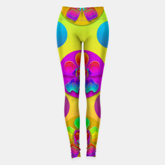 Thumbnail image of Power flowers in festive flower power festival pop art Leggings, Live Heroes