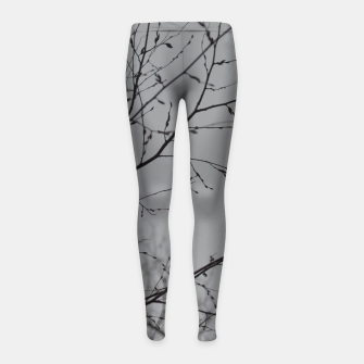 Thumbnail image of Branches impressions Girl's leggings, Live Heroes