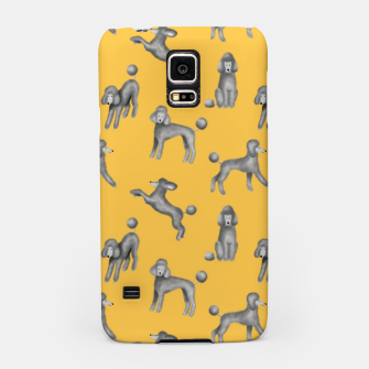 Miniaturka Grey Poodles Pattern (Yellow Background) Samsung Case, Live Heroes