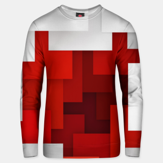 Miniaturka Abstract Red and White Unisex sweater, Live Heroes