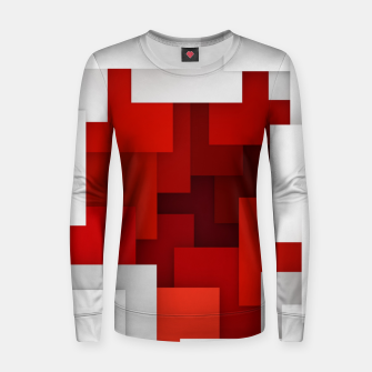 Miniaturka Abstract Red and White Women sweater, Live Heroes