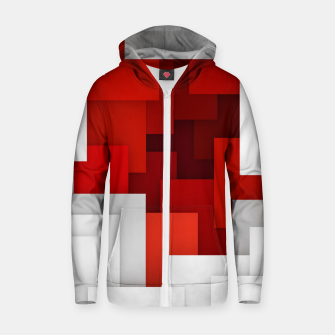 Miniaturka Abstract Red and White Zip up hoodie, Live Heroes