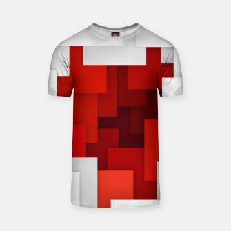 Miniaturka Abstract Red and White T-shirt, Live Heroes