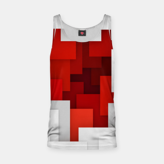 Miniaturka Abstract Red and White Tank Top, Live Heroes