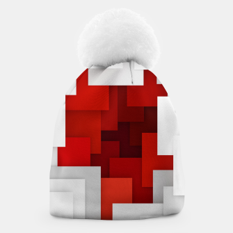 Miniaturka Abstract Red and White Beanie, Live Heroes