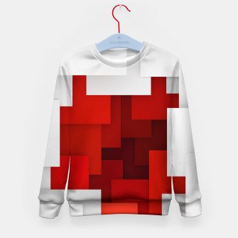 Miniaturka Abstract Red and White Kid's sweater, Live Heroes
