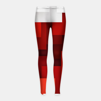 Miniaturka Abstract Red and White Girl's leggings, Live Heroes
