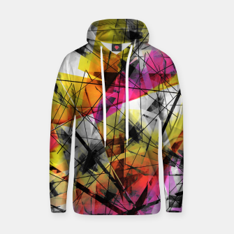 Thumbnail image of Discourse on Damage - Futuristic Geometric Abstrct Art Hoodie, Live Heroes
