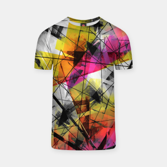 Thumbnail image of Discourse on Damage - Futuristic Geometric Abstrct Art T-shirt, Live Heroes