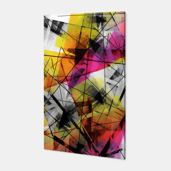 Thumbnail image of Discourse on Damage - Futuristic Geometric Abstrct Art Canvas, Live Heroes