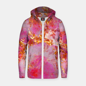 Dauntless Pink Vivid Abstract |  Zip up hoodie thumbnail image