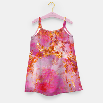 Dauntless Pink Vivid Abstract |  Girl's dress thumbnail image