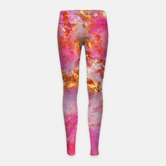 Thumbnail image of Dauntless Pink Vivid Abstract |  Girl's leggings, Live Heroes