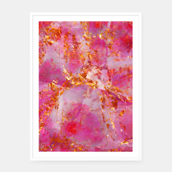 Thumbnail image of Dauntless Pink Vivid Abstract |  Framed poster, Live Heroes