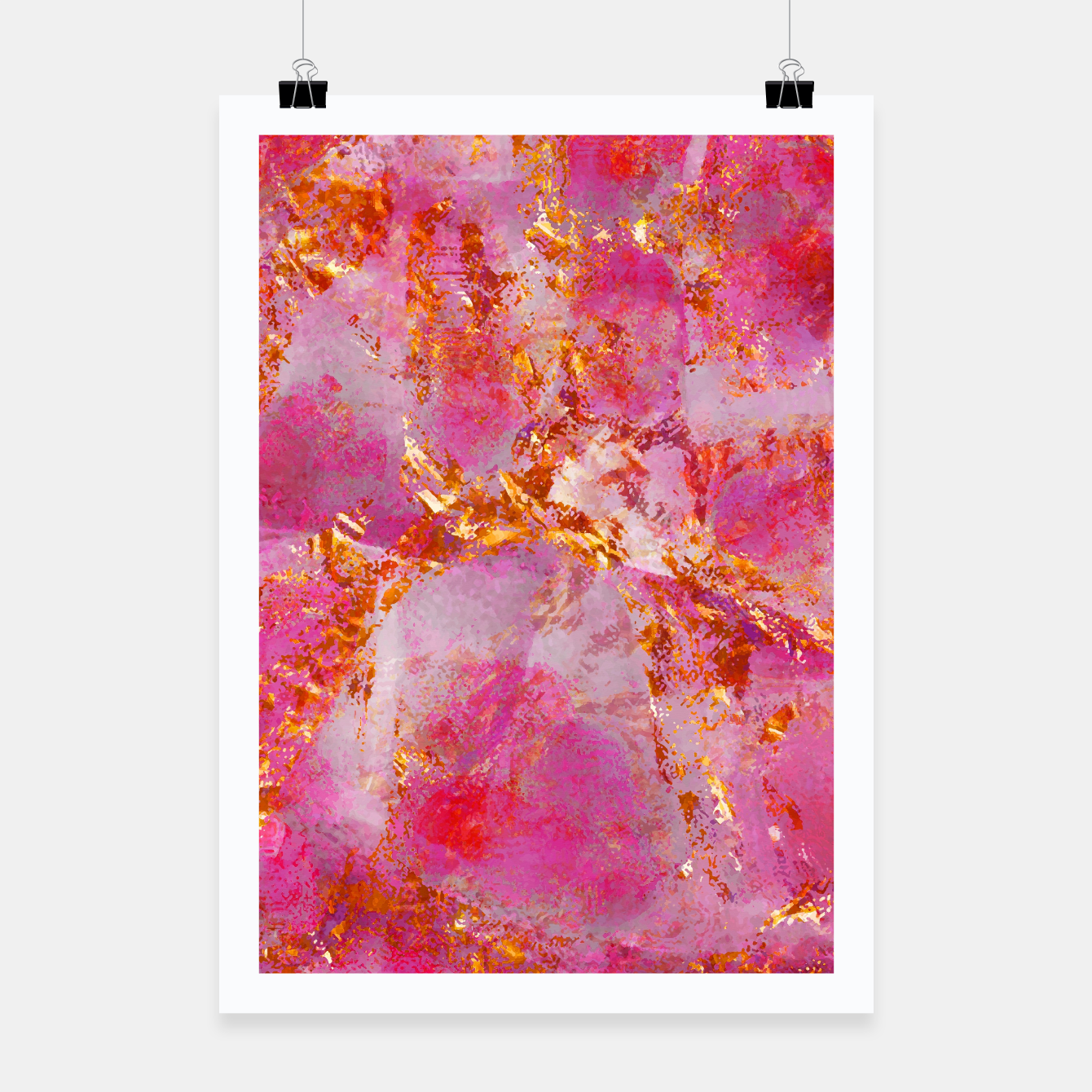 Image of Dauntless Pink Vivid Abstract |  Poster - Live Heroes