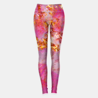 Thumbnail image of Dauntless Pink Vivid Abstract |  Leggings, Live Heroes
