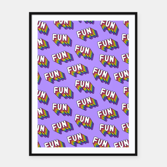 Thumbnail image of FUN Framed poster, Live Heroes