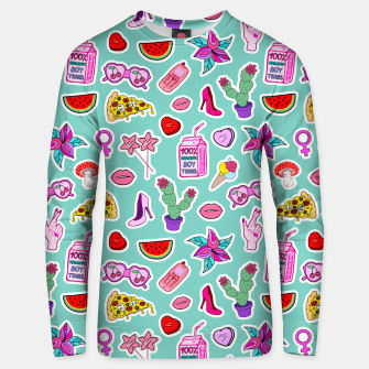 Thumbnail image of Green Punch Unisex sweater, Live Heroes