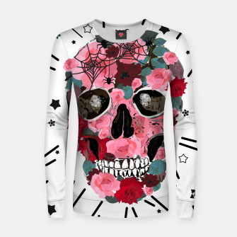 Thumbnail image of Made of skull with roses and spider pattern Women sweater, Live Heroes