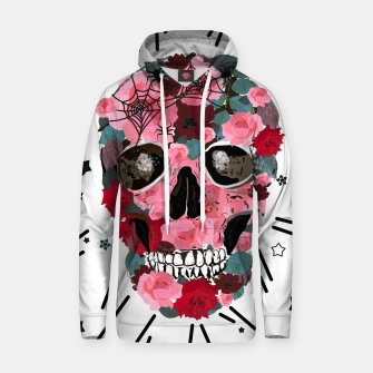 Thumbnail image of Made of skull with roses and spider pattern Hoodie, Live Heroes