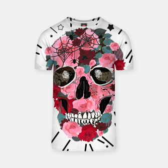 Thumbnail image of Made of skull with roses and spider pattern T-shirt, Live Heroes
