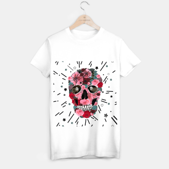 Thumbnail image of Made of skull with roses and spider pattern T-shirt regular, Live Heroes