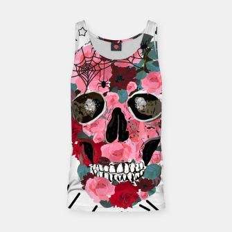 Thumbnail image of Made of skull with roses and spider pattern Tank Top, Live Heroes