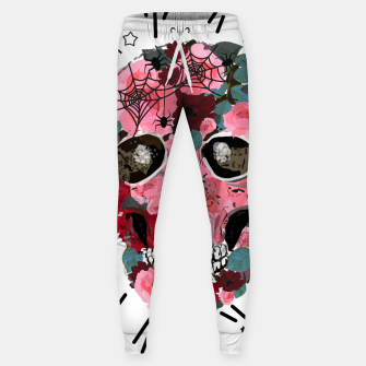 Thumbnail image of Made of skull with roses and spider pattern Sweatpants, Live Heroes