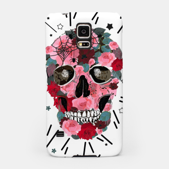 Thumbnail image of Made of skull with roses and spider pattern Samsung Case, Live Heroes