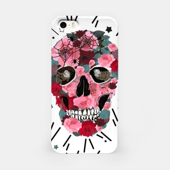 Thumbnail image of Made of skull with roses and spider pattern iPhone Case, Live Heroes