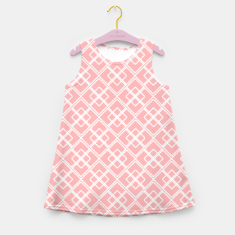 Thumbnail image of Abstract geometric pattern - pink and white. Girl's summer dress, Live Heroes