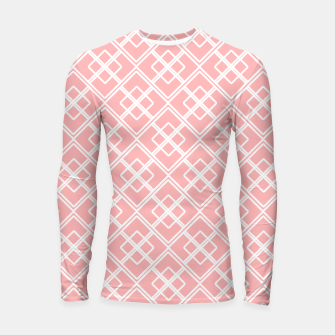 Miniatur Abstract geometric pattern - pink and white. Longsleeve rashguard , Live Heroes