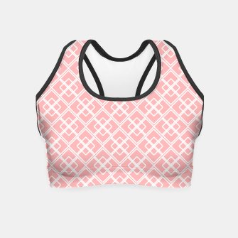 Miniatur Abstract geometric pattern - pink and white. Crop Top, Live Heroes