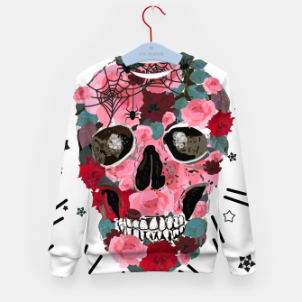 Thumbnail image of Made of skull with roses and spider pattern Kid's sweater, Live Heroes