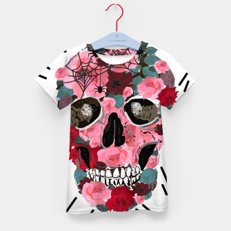 Thumbnail image of Made of skull with roses and spider pattern Kid's t-shirt, Live Heroes