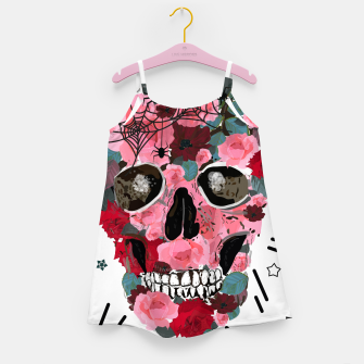 Thumbnail image of Made of skull with roses and spider pattern Girl's dress, Live Heroes
