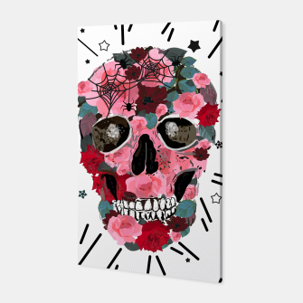 Thumbnail image of Made of skull with roses and spider pattern Canvas, Live Heroes