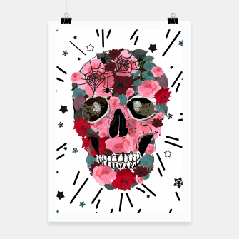 Thumbnail image of Made of skull with roses and spider pattern Poster, Live Heroes