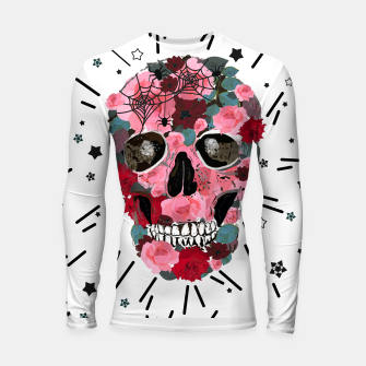 Miniatur Made of skull with roses and spider pattern Longsleeve rashguard , Live Heroes