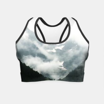 Miniatur fog over the forest Crop Top, Live Heroes